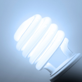 Compact Fluorescent Bulb Conserves Energy